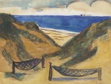 Max Beckmann, Scena di spiaggia | Strandszene | Beach scene