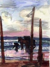 Max Beckmann, Scheveningen (Pescatore di gamberi) | Scheveningen (Garnelenfischer) | Scheveningen (Shrimp fisherman)
