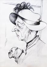 Max Beckmann, Signora con cane | Dame mit Hund