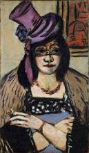 Max Beckmann, Signora con cappello e veletta | Dame mit Hut und Schleier | Lady with hat and veil