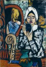 Max Beckmann, Signora con specchio | Dame mit Spiegel | Lady with a mirror
