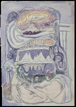 Max Beckmann, Sogno di mappamondo (Universo) | Dream of Weltkarte (Universum)