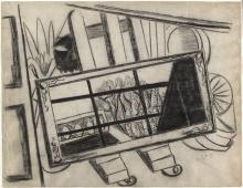 Max Beckmann, Specchio su un cavalletto   Spiegel auf einer Staffelei   A mirror on an easel