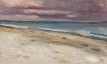Max Beckmann, Spiaggia, cielo viola | Meeresstrand, violetter Himmel