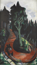 Max Beckmann, Strada boschiva nella Foresta Nera   Waldweg im Schwarzwald