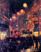 Max Beckmann, Strada di notte | Strasse bei Nacht | Street by night