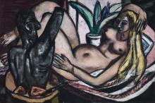 Max Beckmann, Studio (Nudo femminile e scultura) | Studio (Female nude and sculpture)