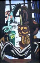 Max Beckmann, Studio con tavolo e bicchieri (Natura morta con finestra dello studio)