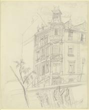 Max Beckmann, Studio di casa (Nizza a Francoforte) | Häuserstudie (Nizza in Frankfurt)