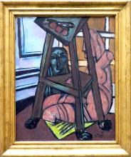 Max Beckmann, Studio di scultura (Angolo di studio) | Plastik-Studio (Atelierecke)