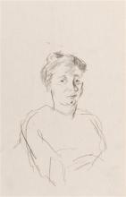 Max Beckmann, Studio per il ritratto di una giovane donna   Porträtstudie einer jungen Frau