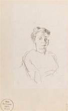 Max Beckmann, Studio per il ritratto di una giovane donna   Porträtstudie einer jungen Frau   Portrait study of a young woman