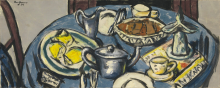Max Beckmann, Tavolo da colazione (blu) | Frühstückstisch (blau)