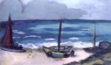 Max Beckmann, Temporale in arrivo al mare | Aufziehendes Gewitter am Meer | Incoming thunderstorm at the sea