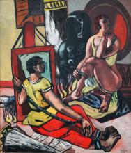 Max Beckmann, Tentazione (Tentazione di sant'Antonio) [Trittico - Parte centrale] | Versuchung (Versuchung des Heiligen Antonius) [Triptychon - Mittelteil]