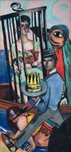 Max Beckmann, Tentazione (Tentazione di sant'Antonio) [Parte destra] | Versuchung (Versuchung des Heiligen Antonius) [Triptychon - rechter Teil]