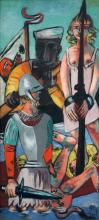 Max Beckmann, Tentazione (Tentazione di sant'Antonio) [Trittico - Parte sinistra] | Versuchung (Versuchung des Heiligen Antonius) [Triptychon - linker Teil]