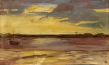 Max Beckmann, Tramonto, viola e giallo | Sonnenuntergang, violett und gelb
