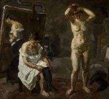 Max Beckmann, Tre donne nello studio | Three women in the studio