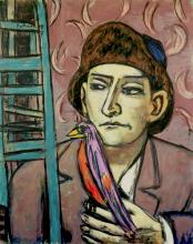 Max Beckmann, Uomo con uccello | Mann mit Vogel | Man with bird