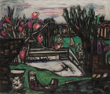 Max Beckmann, Vecchia piscina (Paesaggio primaverile) | Alter Swimmingpool (Frühlinglandscahft) | Old swimming pool (Spring landscape)