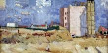 Max Beckmann, Veduta dallo studio, Eisernercherstrasse 103 | Blick aus dem Atelier, Eisenacherstrasse 103