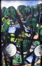 Max Beckmann, Veduta del Tiergarten con palle bianche | Blick auf den Tiergarten mit weißen Kugeln