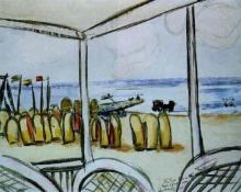 Max Beckmann, Veduta della spiaggia da una terrazza | A view of the beach from a terrace