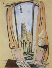 Max Beckmann, Veduta della torre Eiffel dalla finestra | Blick aus dem Fenster auf den Eiffelturm