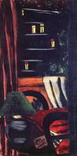 Max Beckmann, Veduta di notte su rue des Marronniers | Blick bei Nacht auf die Rue des Marronniers