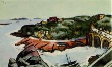 Max Beckmann, Veduta di sobborghi affacciati sul mare a Marsiglia | Blick auf Vorstädte am Meer bei Marseille | View of suburbs overlooking the sea near Marseille