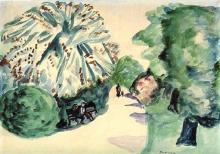Max Beckmann, Viale di un parco ad Amsterdam | Weg in einem Parklandschaft im Amsterdam