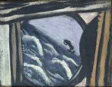 Max Beckmann, Vista dal boccaporto della nave | Blick aus der Schiffsluke