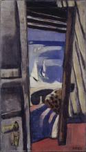 Max Beckmann, Vista sul mare (rosso, grigio, blu)   Blick auf das Meer (rot, grau, blau)