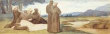 François Léon Benouville (attribuito a), Scena della vita di San Francesco d'Assisi | Scène de la vie de saint François d'Assise