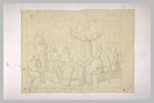 François Léon Benouville, Apparizione di san Francesco d'Assisi a sant'Antonio che predica a Grenoble   Apparition de saint François d'Assise à saint Antoine prêchant à Grenoble