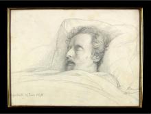 François Léon Benouvile, Ary Scheffer sul suo letto di morte | Ary Scheffer sur son lit de mort | Ary Scheffer op zijn doodsbed