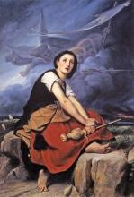 François Léon Benouville Giovanna d'Arco che ascolta le sue voci | Jeanne d'Arc écoutant ses voix | Joan of Arc listening to her voices