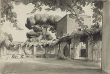 François Léon Benouville, Monaci nel chiostro del convento dei Maroniti a Roma | Moines dans le cloître du couvent des Maronites à Rome