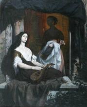 François Léon Benouville, Odalisca con il mandolino | Odalisque à la mandoline