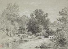 François Léon Benouville, Paesaggio con torrente | Paysage au torrent