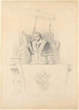 François Léon Benouville, Papa Pio IX che impartisce la benedizione Urbi et Orbi | Le pape Pie IX, qui donne la bénédiction Urbi et Orbi