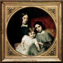 François Léon Benouville, Ritratto delle tre figlie di Alphonse Jacob-Desmalter   Portrait des trois filles d'Alphonse Jacob-Desmalter