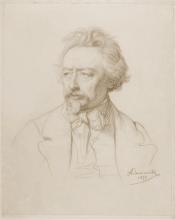François Léon Benouville, Ritratto di Ary Scheffer   Portrait d'Ary Scheffer