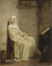 François Léon Benouville, Santa Chiara in meditazione | Sainte Claire méditant
