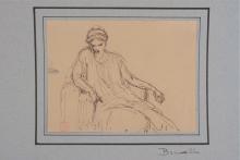François Léon Benouville, Studio di donna dell'antichità seduta | Étude de femme à l'antique, assise