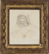 François Léon Benouville, Studio di san Francesco d'Assisi | Étude de saint François d'Assise | Study of St Francis of Assisi