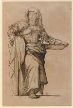 François Léon Benouville, Studio per 'Poussin trova il soggetto del suo Mose'[recto] | Étude pour 'Poussin trouve le sujet de son Moïse' [recto]