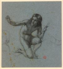 François Léon Benouville, Un giovane rannicchiato a terra | Un jeune homme accroupi sur le sol | A youth crouching on the ground
