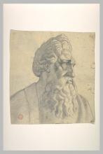 François Léon Benouville, Vegliardo barbuto visto a mezzo busto | Vieillard barbu vu en buste
